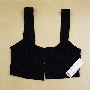 UO Claudia Lace Bustier Cropped Top